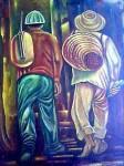 Obras de arte: America : Panamá : Colon-Panama : Panamá_Ciudad : Los jornaleros