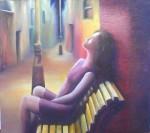 Obras de arte: America : Argentina : Buenos_Aires : Mar_del_Plata : La chica del vestido rojo