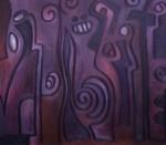 Obras de arte: America : Uruguay : Canelones : Parque_de_Carrasco : Jeroglífico en Lila