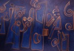 Obras de arte: America : Uruguay : Canelones : Parque_de_Carrasco : Jeroglífico en Azul