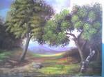 Obras de arte: America : Rep_Dominicana : Santiago : loma_de_cabrera : Dos árboles