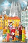 Obras de arte: Europa : España : Navarra : Pamplona_ciudad : Posando en La Flora