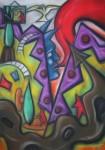 Obras de arte: Europa : Portugal : Lisboa : Parede : Carnaval Quotidiano