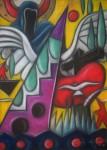 Obras de arte: Europa : Portugal : Lisboa : Parede : Anagrama Suspenso