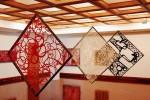 Obras de arte: America : Panamá : Panama-region : albrook : composicion espacial en rojo, blanco y negro
