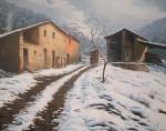 Obras de arte: Europa : España : Catalunya_Girona : olot : nieve y nostalgia