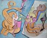 Obras de arte: Europa : España : Principado_de_Asturias : Gijón : Pintora pintando