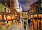 Obras de arte: America : Argentina : Buenos_Aires : Ciudad_de_Buenos_Aires : Place du Tertre et le Sacre Coeur de Nuit