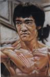 Obras de arte: Europa : España : Catalunya_Tarragona : Tarragona_Ciudad : muestra de retrato (Bruce Lee)