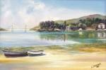Obras de arte: Europa : España : Galicia_Pontevedra : vigo : Baixa mar en San simon