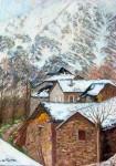 Obras de arte: Europa : España : Madrid : Madrid_ciudad : pueblo de montaña