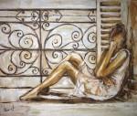 Obras de arte: Europa : España : Catalunya_Tarragona : Banyeres_Penedes : La chica de la ventana