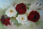 Obras de arte: America : Brasil : Mato_Grosso_do_Sul : nova_andradina : rosas brancas e vermelhas