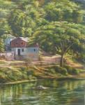 Obras de arte: America : Rep_Dominicana : Santiago : vista_de_serro_alto : ribera del yaque