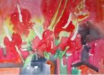 Obras de arte: America : Colombia : Cauca : Popayan : DE LA SERIE COMPOSICION CON FLORES 4