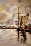 Obras de arte: America : Argentina : Buenos_Aires : Ciudad_de_Buenos_Aires : Barcos en el Puerto