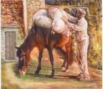 Obras de arte: Europa : España : Galicia_Pontevedra : vigo : Burro fariñeiro