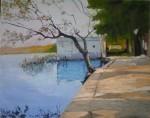Obras de arte: Europa : España : Catalunya_Barcelona : Barcelona : Calma -Lago de Banyoles-
