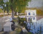 Obras de arte: Europa : España : Catalunya_Barcelona : Barcelona : Sosiego -Lago de Banyoles-