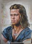 Obras de arte: Europa : España : Catalunya_Tarragona : Tarragona_Ciudad : muestra retrato  Brad Pitt