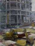 Obras de arte: Europa : España : Euskadi_Bizkaia : Bilbao : Contraluz en la construcción