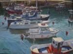 Obras de arte: Europa : España : Euskadi_Bizkaia : Bilbao : Contraluz en el puerto de Armintza
