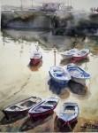 Obras de arte: Europa : España : Euskadi_Bizkaia : Bilbao : Barcas en Castro