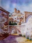 Obras de arte: Europa : España : Andalucía_Málaga : Málaga : RINCON EN EL ALBAICIN (GRANADA)