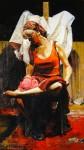 Obras de arte: America : Argentina : Buenos_Aires : Ciudad_de_Buenos_Aires : Gitana aseando sus pies.
