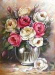 Obras de arte: America : Brasil : Mato_Grosso_do_Sul : nova_andradina : rosas com vaso tranparente