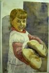 Obras de arte: Europa : España : Castilla_la_Mancha_Ciudad_Real : Ciudad_Real : La chica los panes