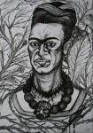 Obras de arte: Europa : Francia : Ile-de-France : PARIS : Frida Kahlo, la carne abierta
