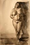Obras de arte: Europa : España : Islas_Baleares : palma_de_mallorca : Sin título (ref: desnudo gordita, acuarela)