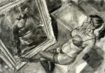 Obras de arte: Europa : España : Islas_Baleares : palma_de_mallorca : Sin título (ref: rubia, espejo, lencería)