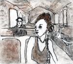 Obras de arte: America : Argentina : Mendoza : mendoza_ciudad : en el tren