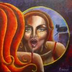 Obras de arte: America : Chile : Region_Metropolitana-Santiago : Padre_Hurtado : femme2