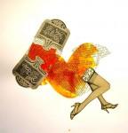Obras de arte: America : Chile : Region_Metropolitana-Santiago : Santiago_de_Chile : el vestido de la novia