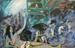 Obras de arte: America : Argentina : Buenos_Aires : La_Plata : Tarde de lluvia