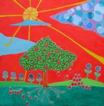 Obras de arte: America : Chile : Region_Metropolitana-Santiago : providencia : Arbol de manzanas