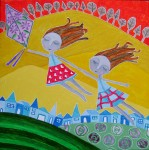 Obras de arte: America : Chile : Region_Metropolitana-Santiago : providencia : Niñas voladoras