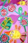 Obras de arte: America : Chile : Region_Metropolitana-Santiago : providencia : Rosas y pajaritos