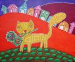 Obras de arte: America : Chile : Region_Metropolitana-Santiago : providencia : Gato enamorado