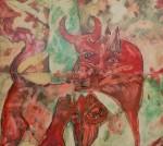Obras de arte: Europa : España : Catalunya_Barcelona : Sant_Esteve_de_Palautordera : Guernica de Bruguera (Fragmento nº 1 de 8)