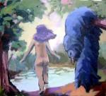 Obras de arte: America : Perú : Lima : Surco : viñeta 4 (detalle de la pintura