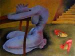 Obras de arte: America : Ecuador : Azuay : Cuenca : MUJER E A LA MESA