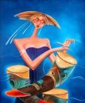 Obras de arte: America : Rep_Dominicana : Barahona : Barahon : Dama Musical