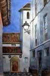 Obras de arte: Europa : España : Andalucía_Granada : Granada_ciudad : Anochece en el Albayzin