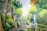 Obras de arte: Europa : España : Andalucía_Granada : Granada_ciudad : Jardin Frances