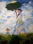 Obras de arte: America : Perú : Lima : Surco : Dama con sombrilla
