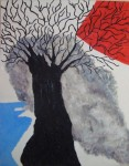 Obras de arte: America : Colombia : Distrito_Capital_de-Bogota : Bogota_ciudad : ARBOL CRECIENDO ALA ORILLA DE LA NADA